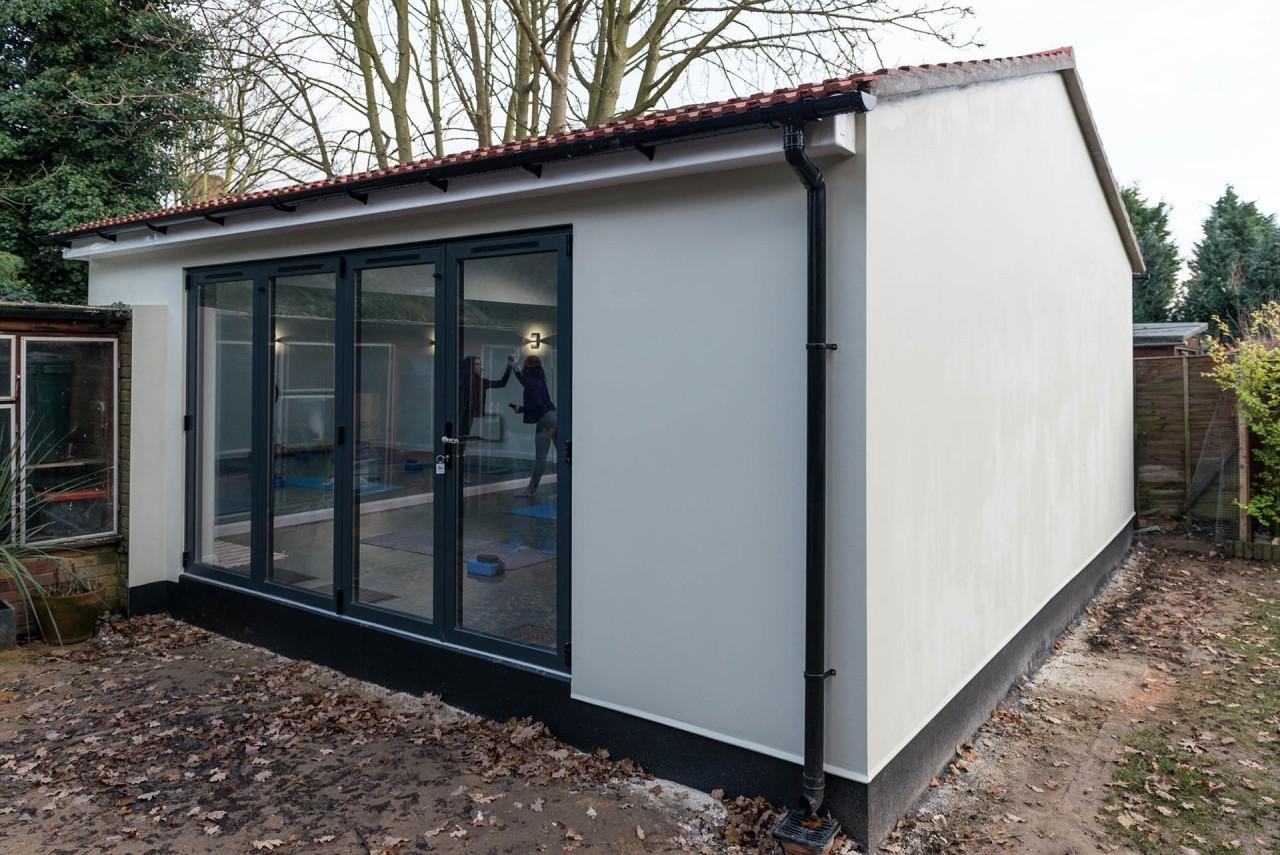 Dance Studio Exterior with Bi-fold Doors