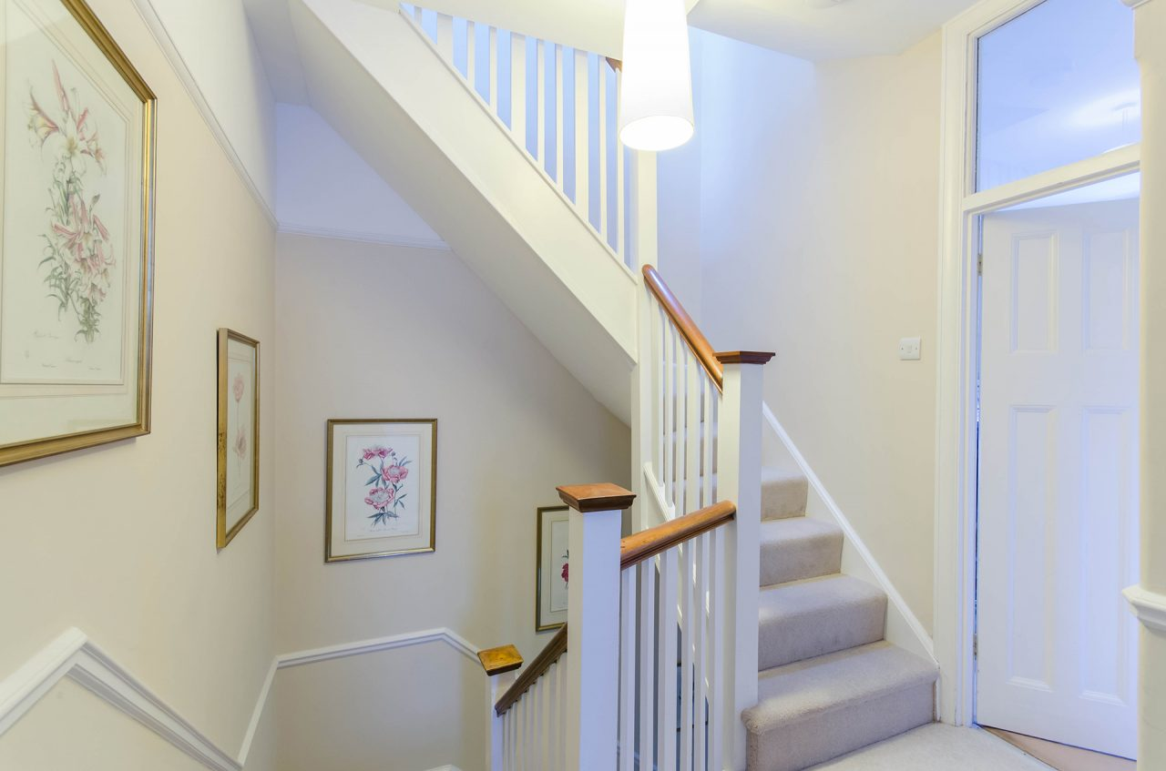 Stairs up to loft extension