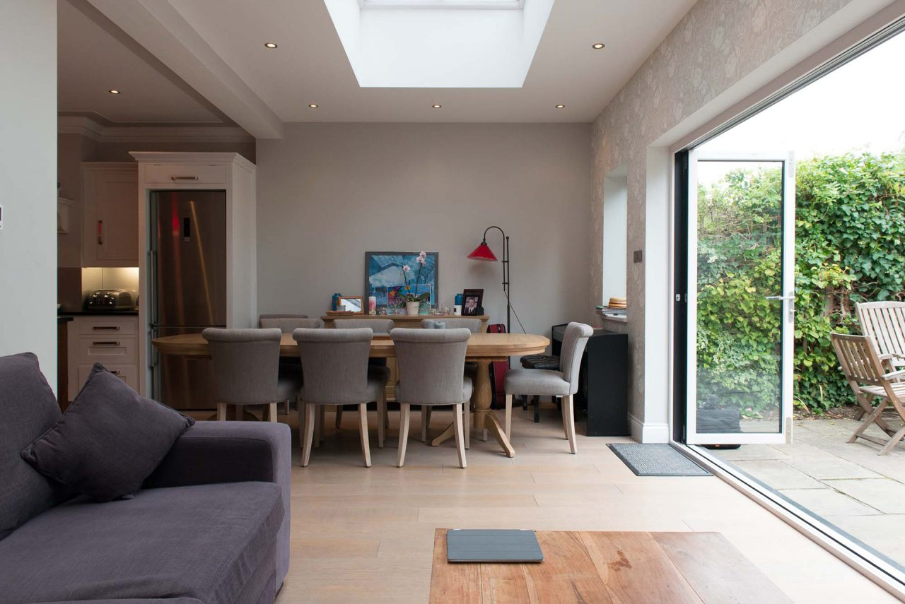 The new dining area in the extension