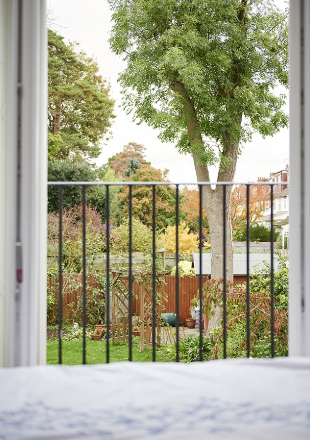 View of outside from bedroom doors