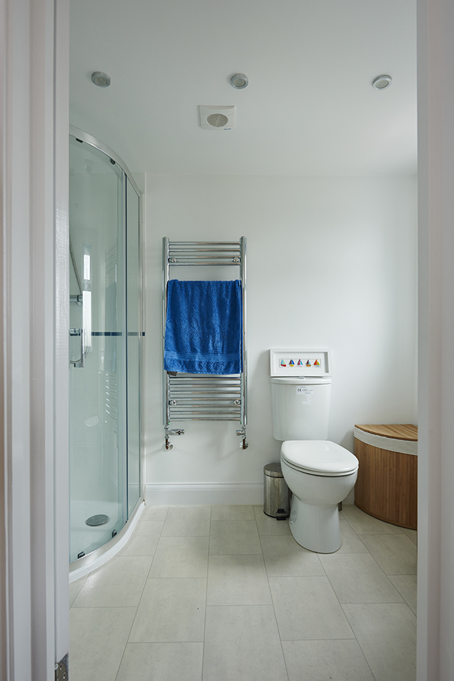 The en-suite to the master bedroom