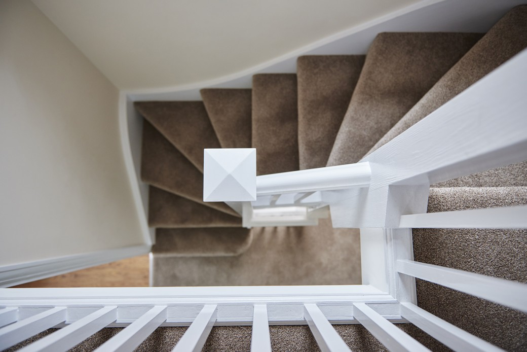 The staircase up to the loft