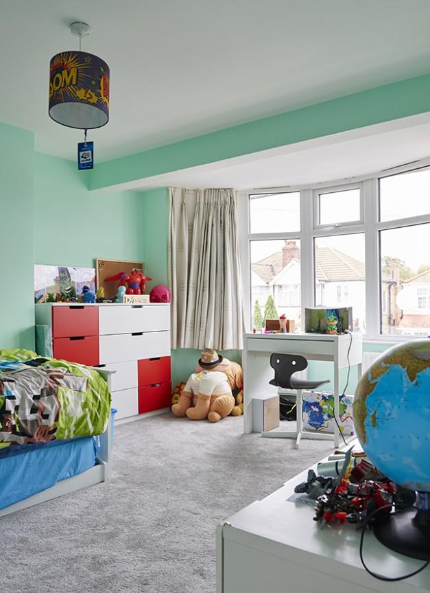 The first children's bedroom
