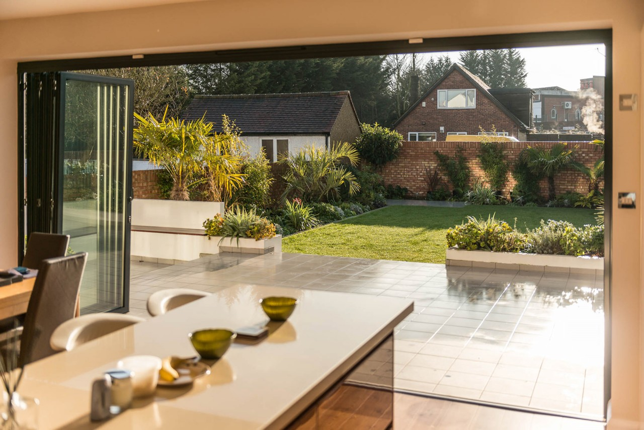 Bi-fold doors from inside
