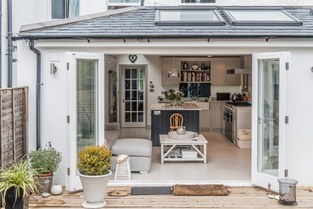 The Bi-fold doors open the inside out to the garden