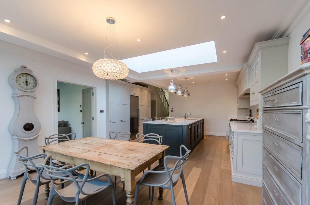 Dining area in the new extension