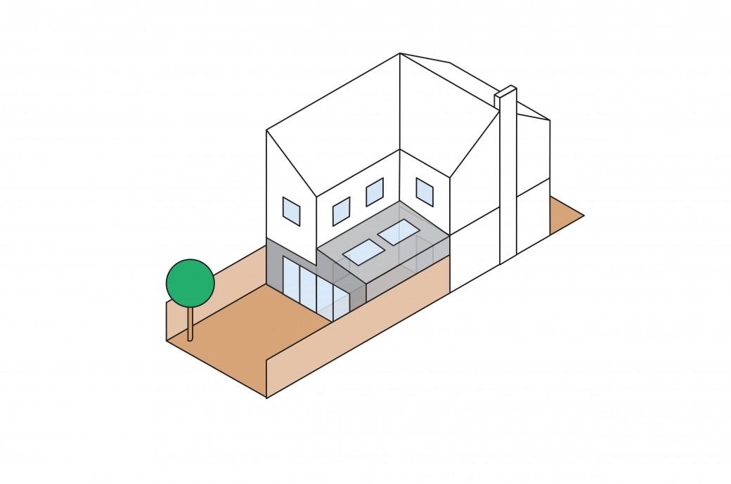 Kantec Side-return Extension Illustration