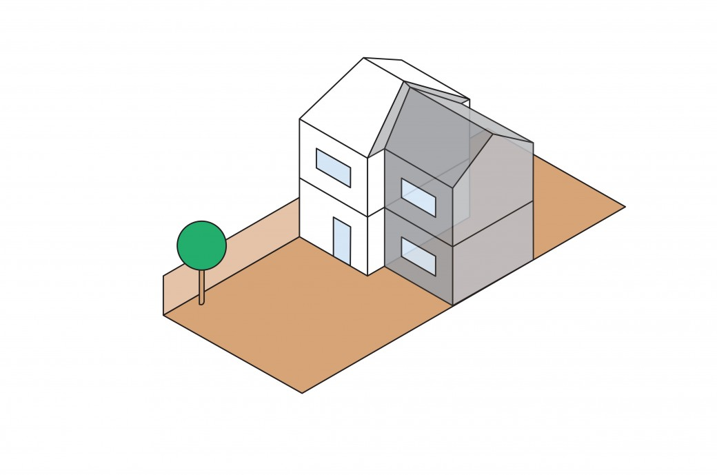 Kantec Side Double-storey Extension Illustration