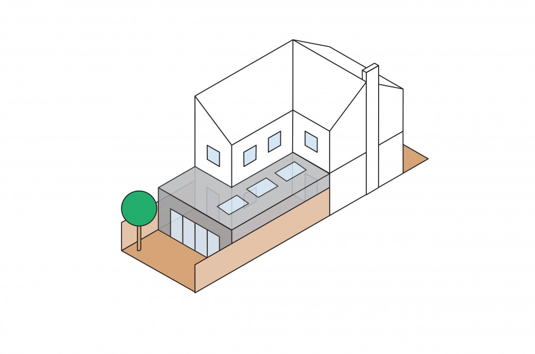 Kantec Wrap-around Extension Illustration