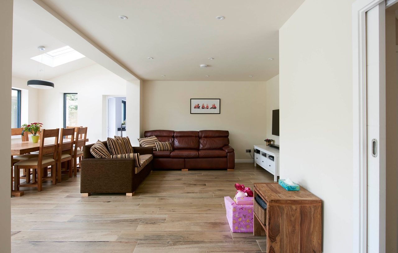 House extension and living space