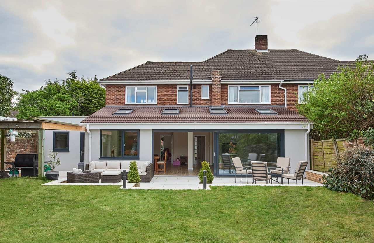 The rear extension and view from garden