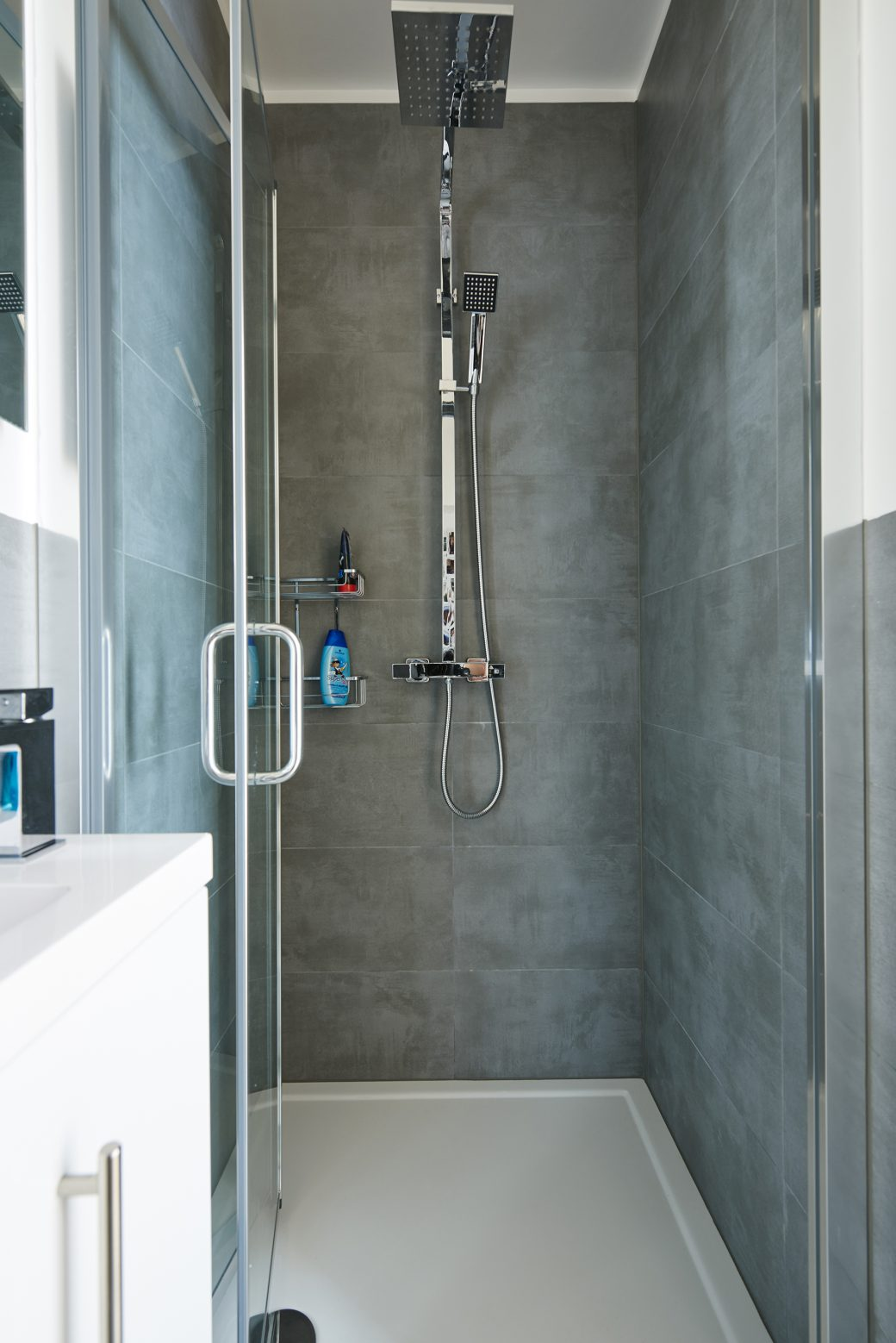 Close up of shower