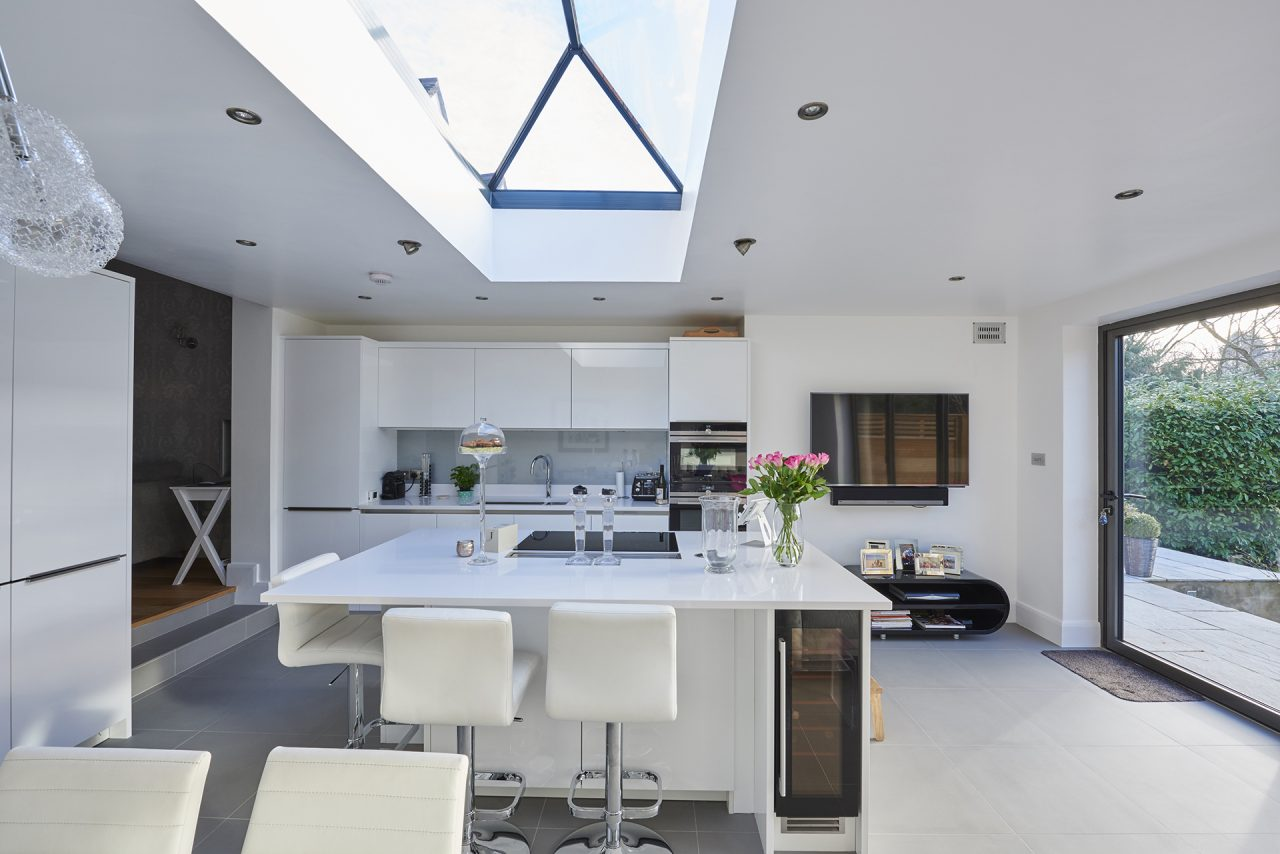 Kitchen with rooflight