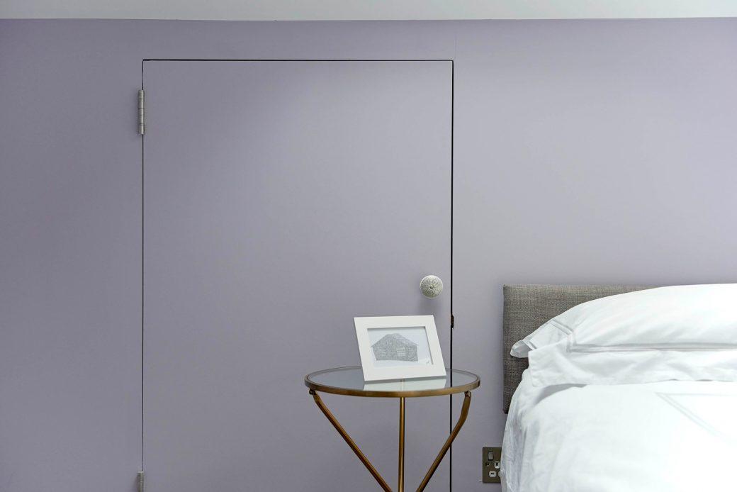 Lilac painted walls