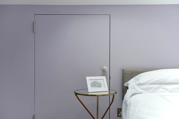 Lilac painted walls