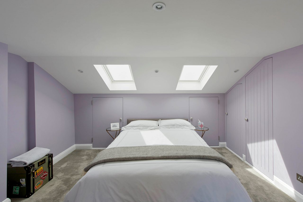 Skylights in bedroom