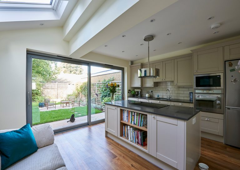 Kitchen with patio doors