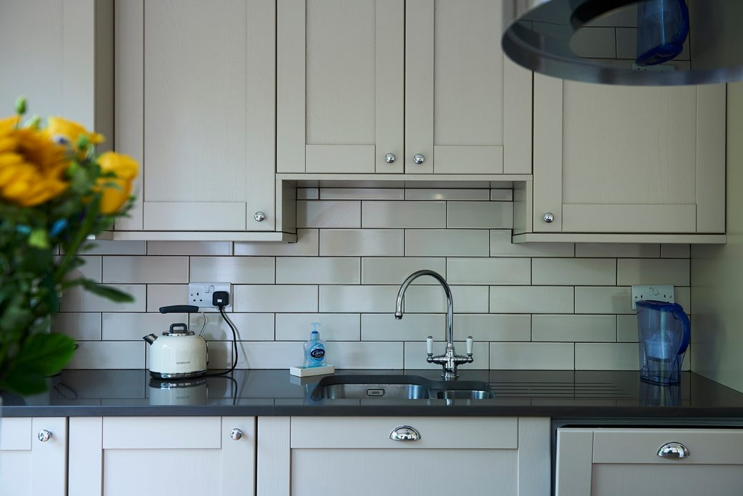 Close up of the kitchen