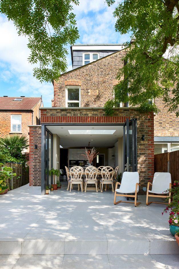 Bifold doors from kitchen to garden