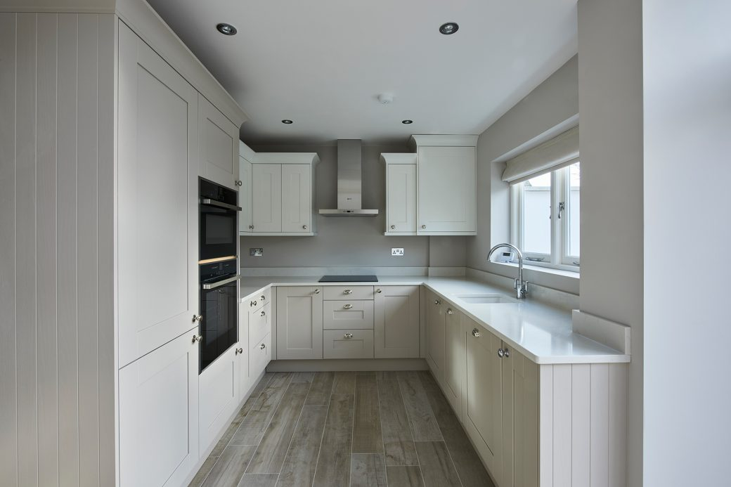 A large new kitchen