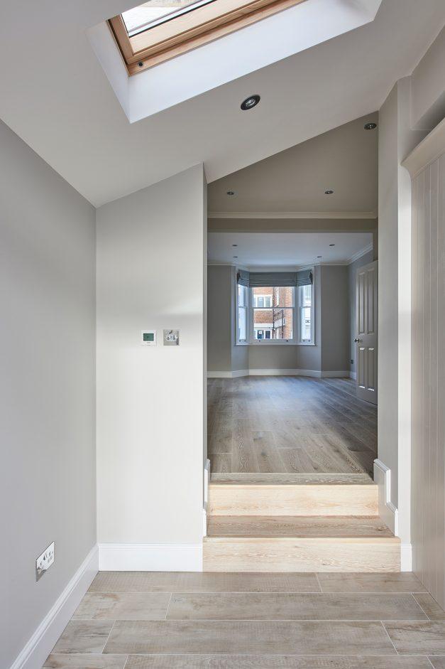 Downstairs refurbishment with wooden floor