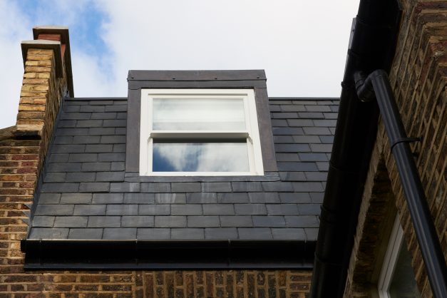 Roof window from outside