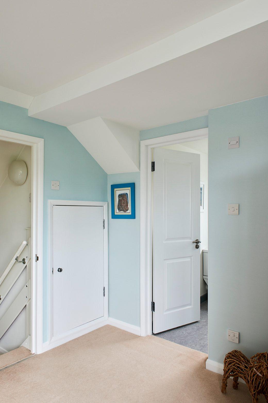 Corridor looking into rooms