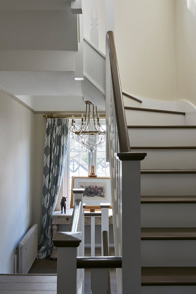 Grey & White painted stairs