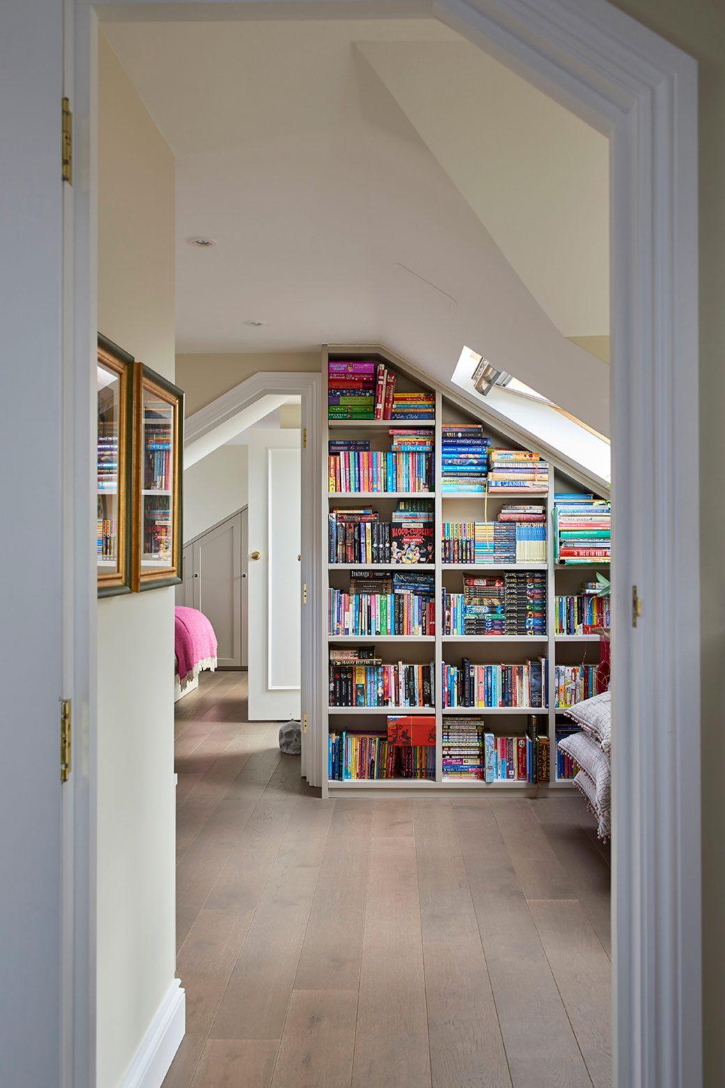 Large inbuilt bookcase storage