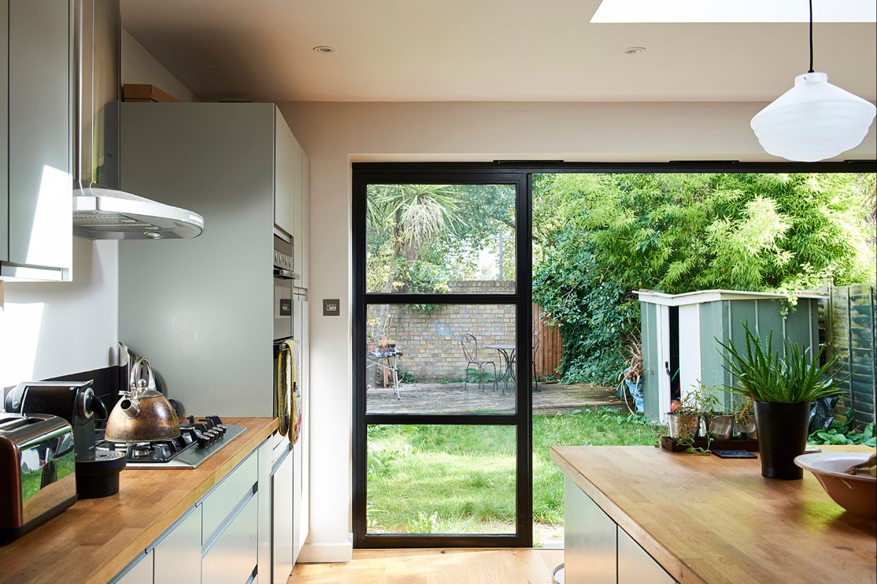 Bifold doors link through to the garden