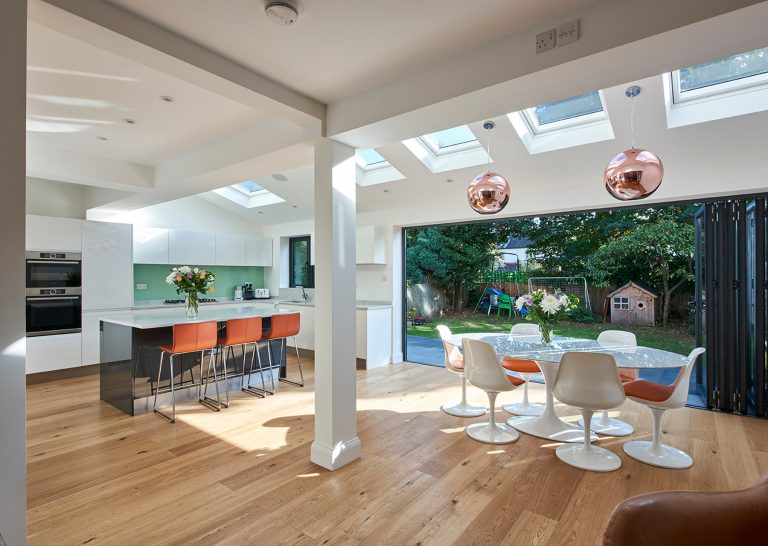 Garden view from contemporary living space