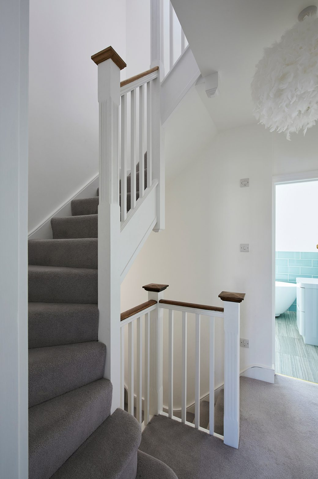 Staircase to dormer extension