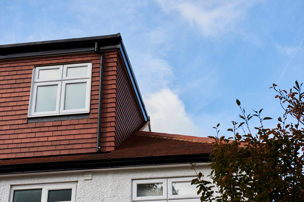 Tiles on roof and loft conversion