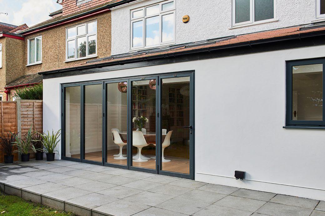 Sliding patio door on rear extension