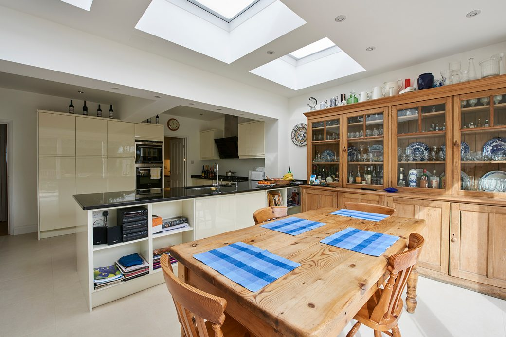 Newly decorated kitchen and dining area