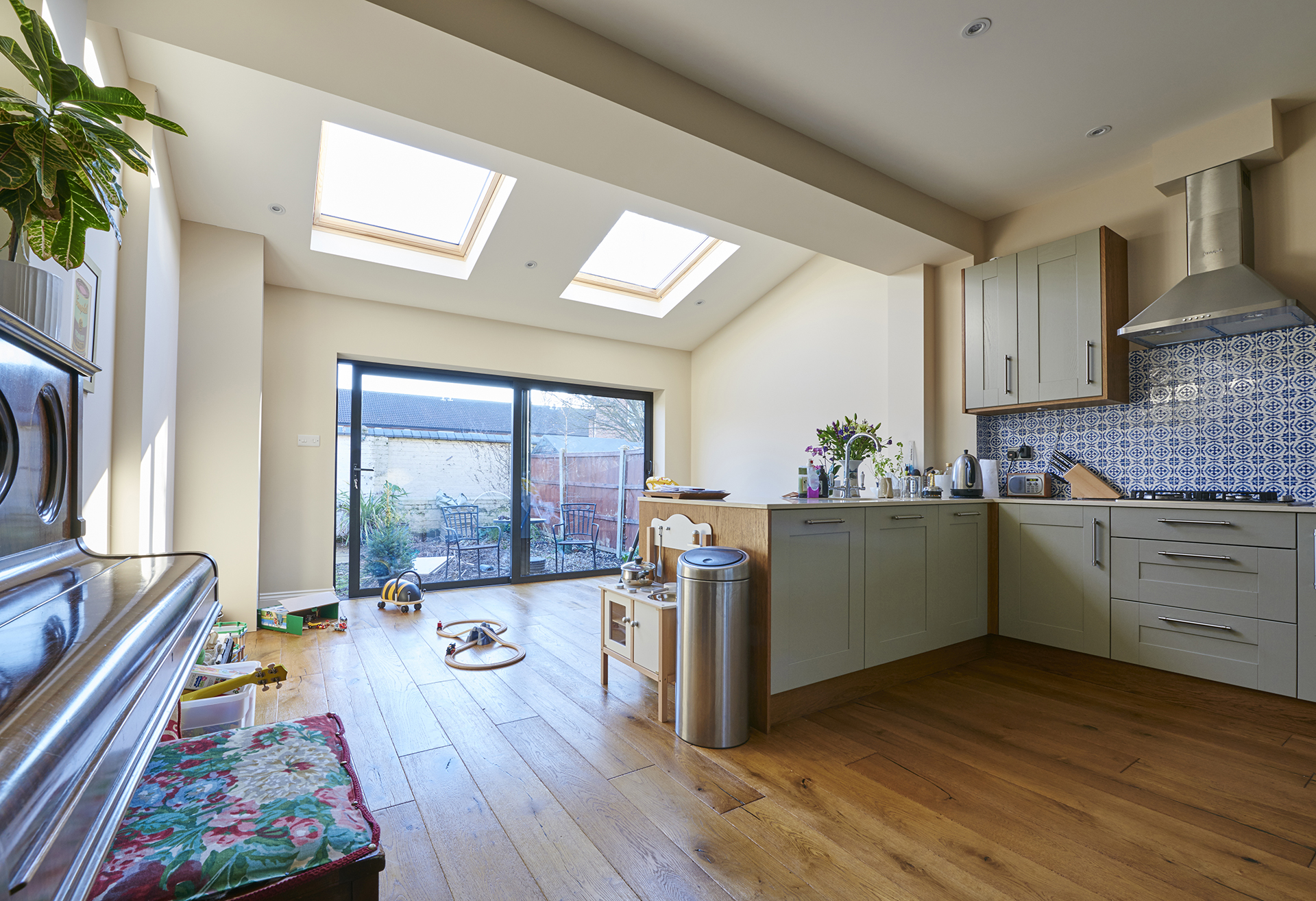 Kitchen extension with Bi-fold doors