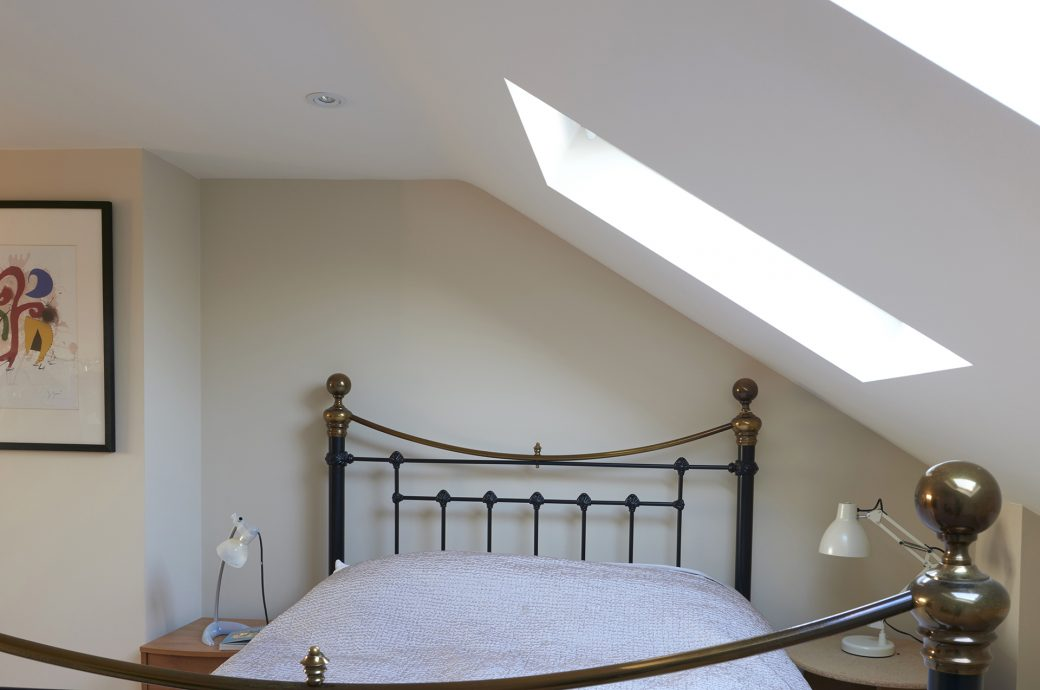 Bedroom in loft conversion