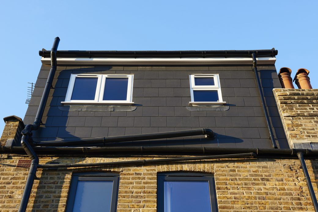Exterior shot of extension